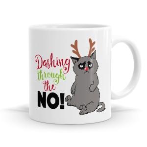 Dashing Through The No! Mug