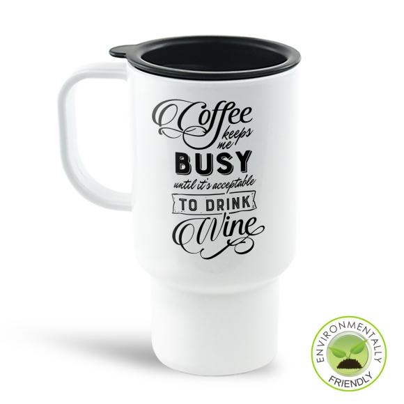 Coffee Keeps Me Busy Travel Mug