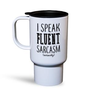 Fluent Sarcasm Travel Mug