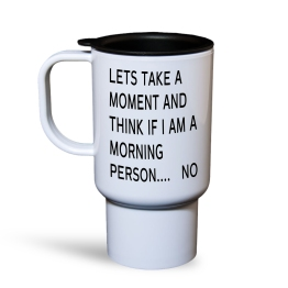 Morning Person Travel Mug
