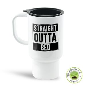 Straight Outta Bed Travel Mug