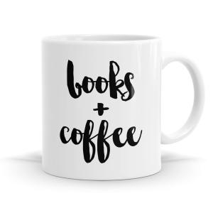 Books + Coffee Mug