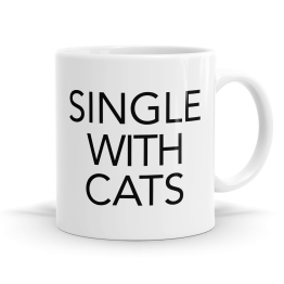 Single With Cats Mug