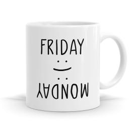 Friday :) Monday :( Mug