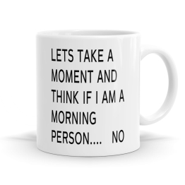 I Don't Like Mornings Mug