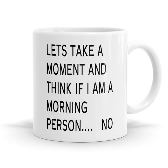 I Don't Like Mornings Mug