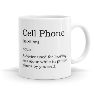 Cell Phone Definition Mug