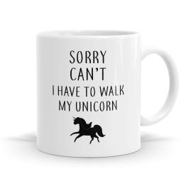 I'm Walking My Unicorn Mug