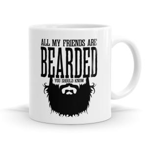 All My Friends Are Bearded Mug